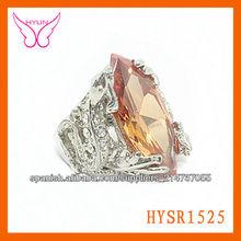 Anillo atractivo diseño|De anillo con circón|moda naranja circón anillo