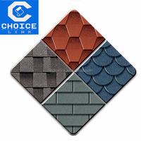 Red Color Round Shape Roofing 3 tab asphalt shingle