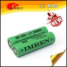 Flat top durable battery IMREN 18650 3500mAh 3.7V 30A IMREN 18650 3500mAh high drain rechargeable battery
