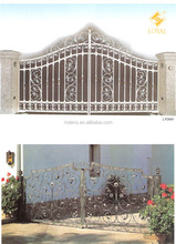 Ornamental Wrought Iron Gate for Entrance and Driveway ,Iron Gate Designs , Metal Garden/Home Gates