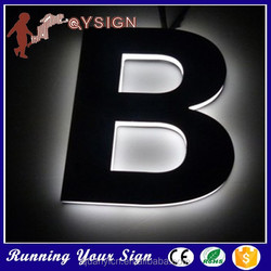 High popular mini black house white acrylic letter sign