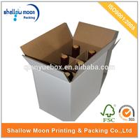 wholesale high quality custom design 6 bottle cardboard wine box