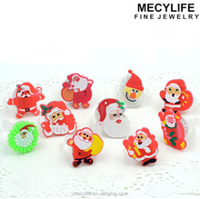 MECY LIFE 2015 hot selling colorful cute new creative design popular good price Christmas led Children Rings