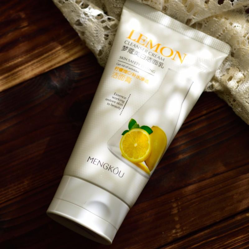 Отбеливающее очищающее средство для лица vc лимон увлажняющий умывальник для лица deep clean purify уменьшить поры осветление 160 г M3811