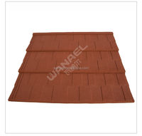 Gold roman blue ceramic interlocking roof shingles tile