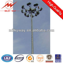 high mast poles with accessories,30 meter long winch mast pole