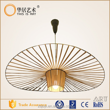 Designers Round style Fiber tube fabric industrial vintage pendant lamp