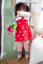 Spring 2015 novel design casual knitted cotton kid girl dress