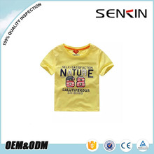 OEM New Design Combed Cotton Baby T Shirt Custom Water Printed Plain Kids T shirt