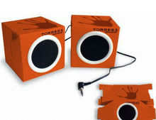 promotional gifts cardboard foldable speakers