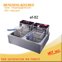 Table top 2 tanks 2 baskets electric deep fryer with high quality and best price