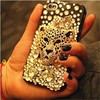 For iphone6 case, full diamond leopard case for iphone 6, for iphone bling case