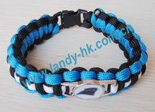 Team Paracord Survival Bracelet charms, bracelet with charms,bracelet charms wholesale