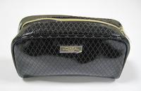 hot sell diamond lattice PU clutch cosmetic bag