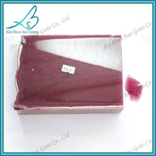Alibaba glass wholesale price for raw gemstones,glass rough stones