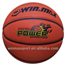WINMAX PU leather colorful rubber basketball