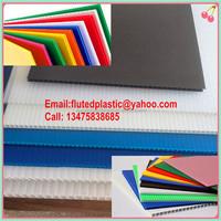 Coroplast/corflute sheet/correx board/corrugated plastic for construction floor building protection