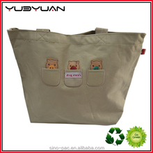 2015 Fashion design solid color expandable size big capacity grocery book storage recyclable tote bag