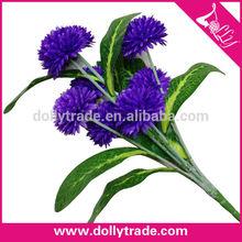 Plástico real touch púrpura de anclaje crisantemo flores artificiales ramo de flores