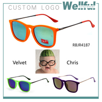 cheap rb red virtual reality velvet square chris sunglasses wholesale in china factory