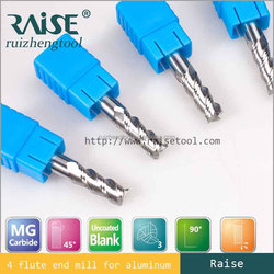 2015 High Precision 3 Flutes germany stright shank solid carbide finish end mills for aluminum