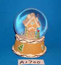 2015 Christmas house snow globe with musical box
