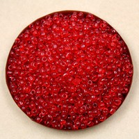 Wholesale-400g/lot 4mm Red transparent Glass Loose Spacer Seed Beads for DIY Craft DH-BBG031-05