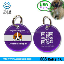 2015 epoxy coated stainless steel QR code pet id tags wholesale