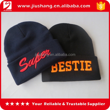 Custom embroidered mens acrylic beanie hat for promotional gift