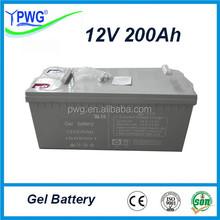 Sealed Maintenance Free lead acid battery AGM battery 12V 200Ah Solar Gel Battery