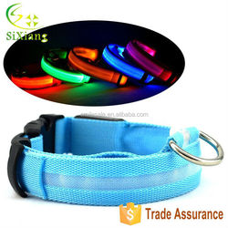 Wholesale 300pcs Flashing Safety Comfortable Pet Products Accessories LED Dog Collar Free Shipping