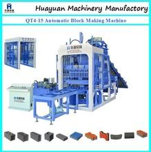 2013 HYM Full automatic brick making machine QT4-15 german concrete block making machine