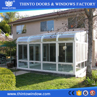 Customized colors sizes shapes and designs high quality curved sunrooms