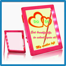 New hot 2015 for kids eye-catching rewritable kids magic led writing boards with free marker pen