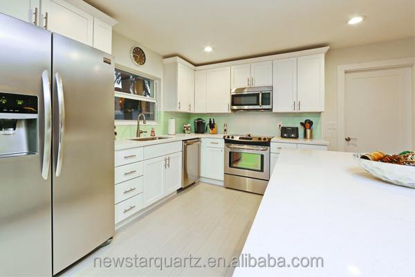 luxe quartz witte moderne bar voor aanrecht in de keuken ...
