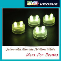 Factory Direct Deal 11Colors Super Bright 2LEDs Waterproof LED Candles Dual LED Submersible Floralyte II