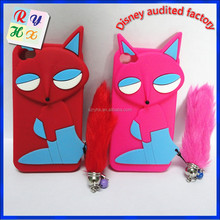Custom design new products 3d cartoon animal shape cheap silicone phone case, sublimation phone case