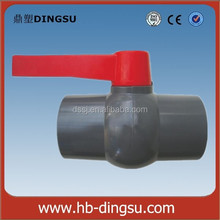 UPVC plastic compact ball valve/dark grey red long handle/agriculture/water supply