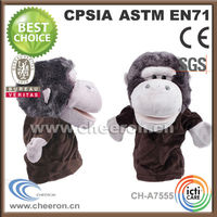 Funny story tool plush monkey full hand puppets toys