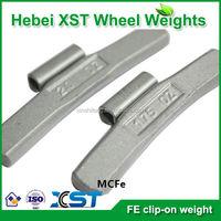 no-lead fe clip on balancing wheel weight