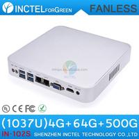 Fanless Alluminum C1037U with USB 3.0 2 RJ45 TF SD Card Mini Itx Case HTPC Linux Desktop PC
