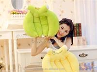 soft stuffed plush banana cushion