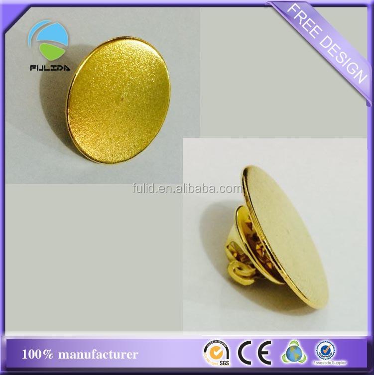 Custom Thin Circle Plain Blank Frame Metal Gold Butterfly Clasp Hook ...