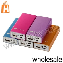Aluminium Alloy Metal Actual Capacity 5000mAh Portable Mobile Power Bank With 3 Modes LED Light