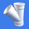 315mm flexible upvc large plastic quick 45 degree y branch fitting water rain waste drain pipe