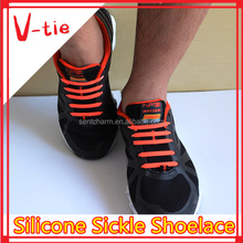 Cool 8 colors new arrival silicone custom shoe laces for adidas shoes men