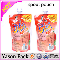 Yason photo print pouch hand bags stand up bpa phthalates spout cap pouches cosmetic custom printed herbal incense pouch