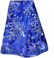 custom garment accessories blue polyester floral lace fabric china,lace fabric stores in china