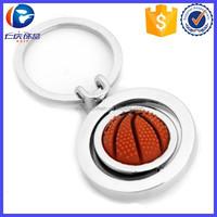 Hot Sale Metal Rotate Basketball Key Ring