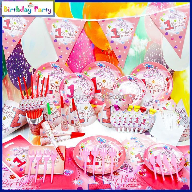 One year old birthday theme party supplies for kids view for 1 year birthday decorations
